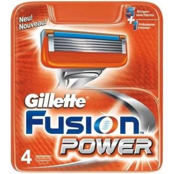 GILLETTE - fusion power náhradné hlavice 4 ks Gillette - 1
