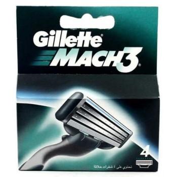 GILLETTE - mach 3 náhradné hlavice 4 ks Gillette - 1