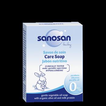 SANOSAN - jemné mydlo z rastlinných olejov s bio olivovým olejom a mliečnym proteínom 100 g sanosan - 1